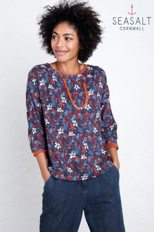 Seasalt Brown Picturesque Top