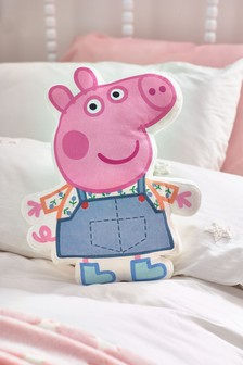 Pink Peppa Pig Embroidered Cushion