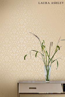 Laura Ashley Linen Annecy Wallpaper