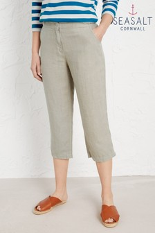 Seasalt Grey Brawn Point Cropped Trousers