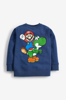 Mario Yoshi Crew Sweat Top (3-16yrs)