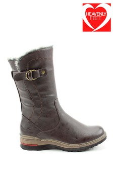 Heavenly Feet Bramble Tan Casual Mid Calf Boots