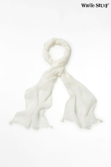 White Stuff White Skinny Savannah Linen Scarf