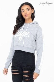 Hype. Side Stripe Women's Crop Pullover Hoody