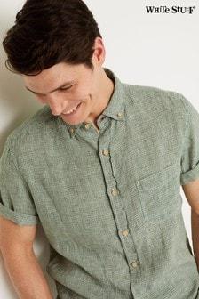White Stuff Green Lanyard Linen Check Shirt