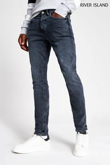 River Island Dark Blue Floyd Jeans