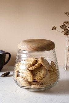 Ripple Glass Kitchen Treat Jar