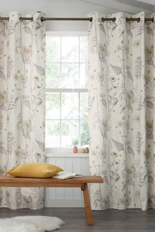 Daisy Print Eyelet Curtains