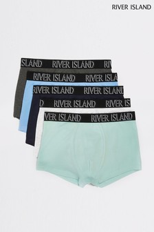 River Island Light Mint Pastel Hipsters Five Pack