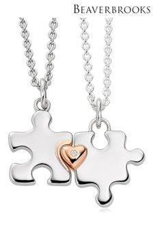 Beaverbrooks Ladies & Childrens Jigsaw Necklace Set
