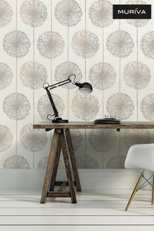 Muriva Natural Dandelion Wallpaper