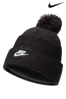 Nike Adults Black Pom Hat