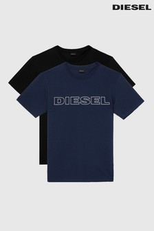 Diesel® Black/Navy 2 Pack Diego T-Shirts