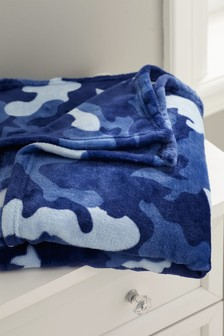 Camouflage Supersoft Fleece Throw