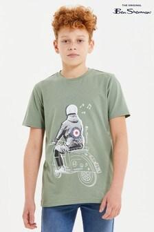 Ben Sherman® Green Doodle Mod Oversized T-Shirt