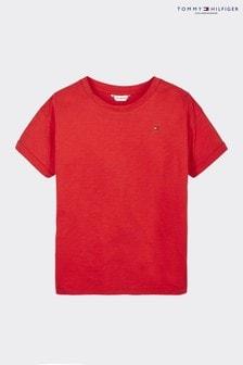 Tommy Hilfiger Red Back Sequin Flag T-Shirt