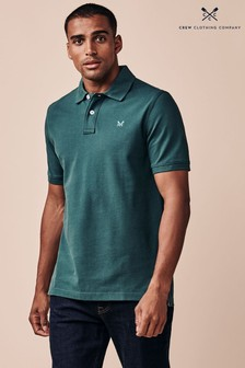 Crew Clothing Company Green Classic Pique Polo