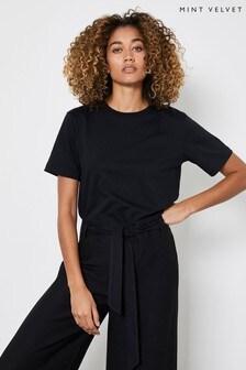 Mint Velvet Black Boyfriend T-Shirt