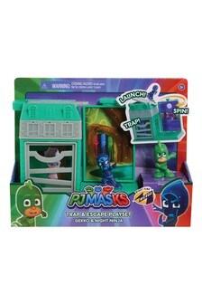PJ Masks Nighttime Micros Trap & Escape Playset Gekko Ninja