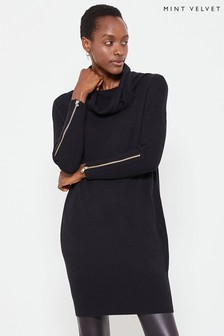 Mint Velvet Zip Cuff Easy Dress