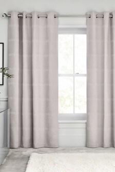 Square Waffle Eyelet Curtains