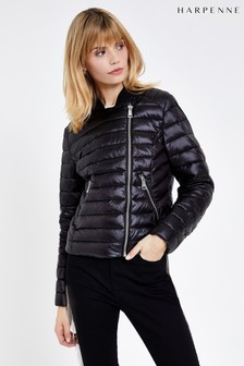 Harpenne Black Casual Padded Jacket