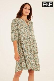 F&F Green Ditsy Dress