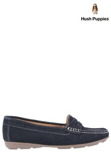 Hush Puppies Blue Margot Slip-On Loafers