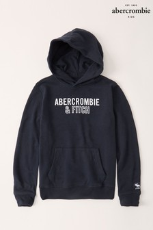 Abercrombie & Fitch Navy Logo Hoody