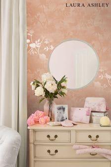 Laura Ashley Blush Eglantine Silhoutte Wallpaper