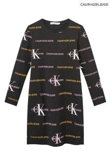 Calvin Klein Black Mix Logo Dress