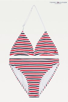Tommy Hilfiger Red Nautical Dna Triangle Swim Set