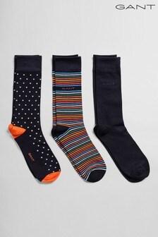 GANT Socks Three Pack Mixed Gift Box