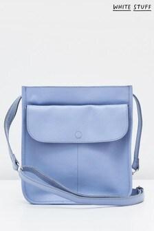 White Stuff Blue Issy Pocket Cross Body Bag