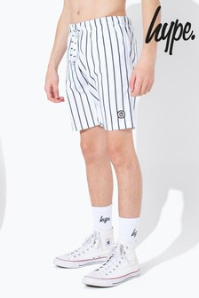 Hype. Olive Stripe Kids Swim Shorts