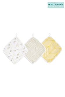 aden + anais Essentials Starry Star Wash Cloth Set 3 Pack
