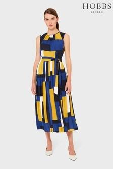 Hobbs Blue Alba Dress