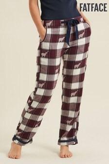 FatFace Purple Bear Jacquard Classic Pyjamas