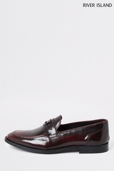 River Island Red Penny Loafers