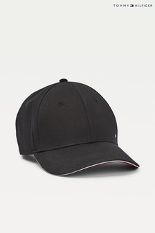 Tommy Hilfiger Black Elevated Corporate Cap