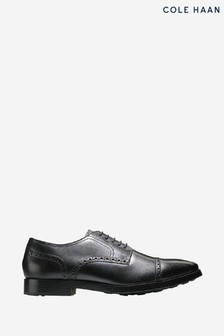 Cole Haan Black Jefferson Grand Cap Toe Oxford Lace-Up Shoes
