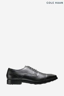 Cole Haan Black Jefferson Grand Cap Toe Oxford Lace-Up Shoes