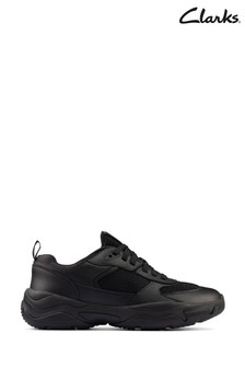 Clarks Black Kuju Run Youths Shoes
