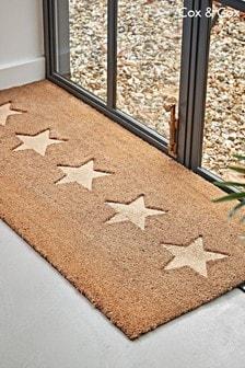 Cox & Cox Embossed Stars Doormat