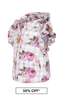 Baby Girls Pink Rose Padded Gilet