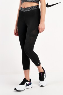 Nike Pro Black Dri-FIT Crop Leggings