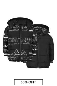 Girls Black Reversible Nyon Padded Jacket