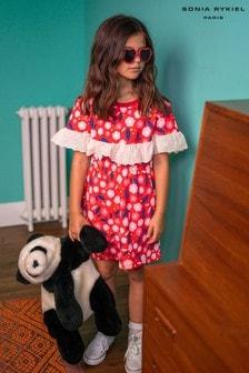 Sonia Rykiel Red Flower Print Dress