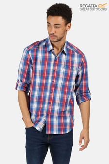 Regatta Blue Banning Short Sleeve Shirt