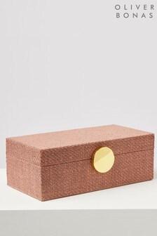 Oliver Bonas Tela Pink Large Jewellery Box